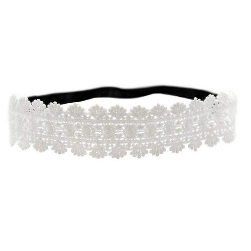 Wicked Wonders VIP Bling Headband All About That Lace White Headband Affordable Bling_Bling Fashion Paparazzi