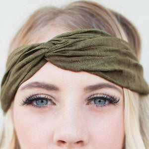 Wicked Wonders VIP Bling Headband G.I. Jane Green Headwrap Affordable Bling_Bling Fashion Paparazzi