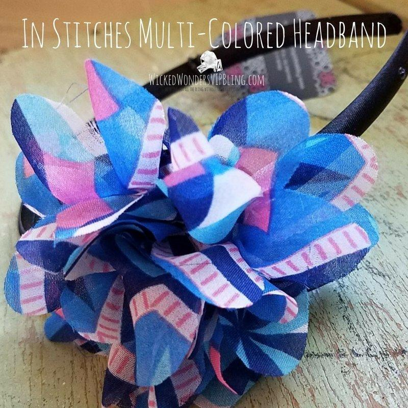 Wicked Wonders VIP Bling Headband In Stitches Multi-Colored Headband Affordable Bling_Bling Fashion Paparazzi