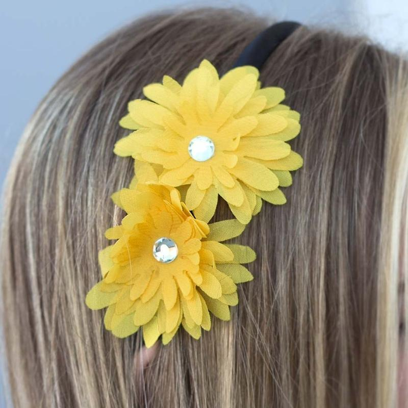 Wicked Wonders VIP Bling Headband Johnny and June Yellow Headband Affordable Bling_Bling Fashion Paparazzi
