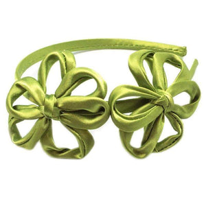 Wicked Wonders VIP Bling Headband Oops-A-Daisy Green Satin Headband Affordable Bling_Bling Fashion Paparazzi