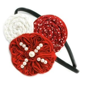 Wicked Wonders VIP Bling Headband Peppermint Perfection Red Headband Affordable Bling_Bling Fashion Paparazzi