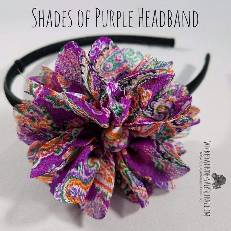 Wicked Wonders VIP Bling Headband Shades of Purple Headband Affordable Bling_Bling Fashion Paparazzi