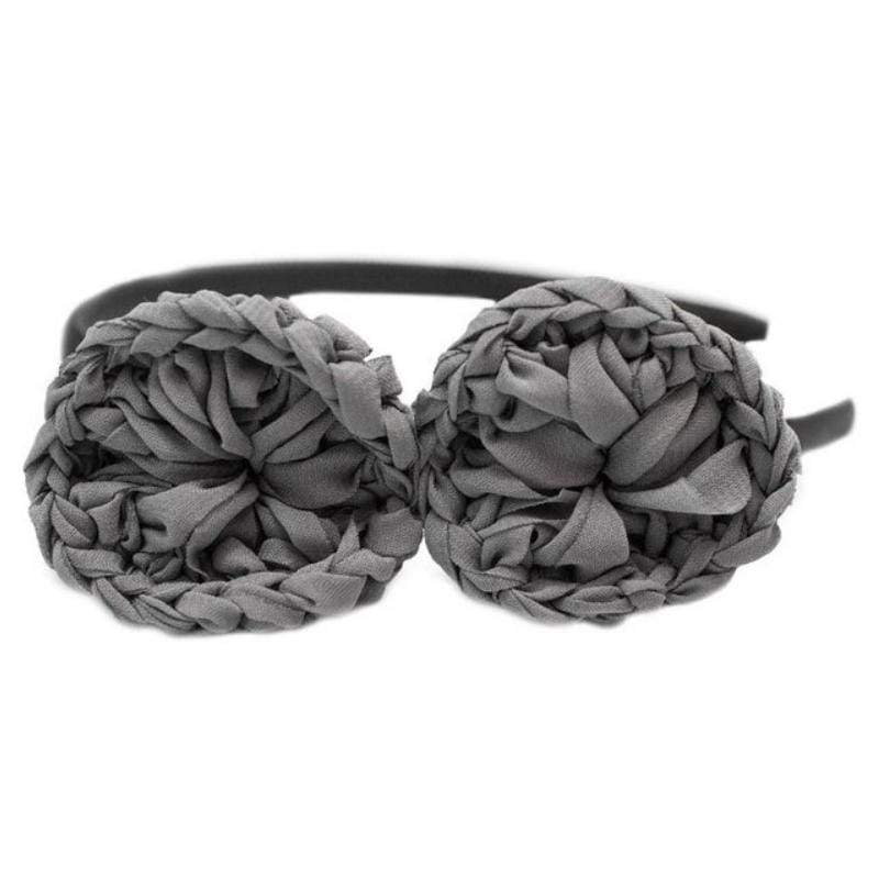 Wicked Wonders VIP Bling Headband Spun Out Gray Headband Affordable Bling_Bling Fashion Paparazzi