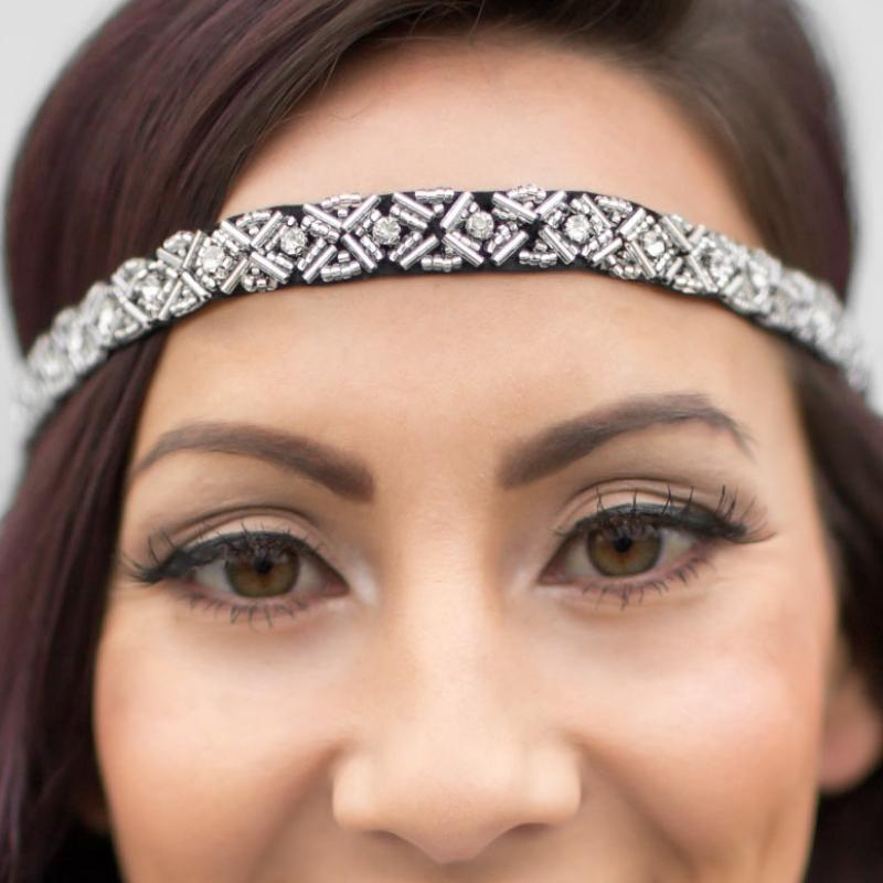 Wicked Wonders VIP Bling Headband Star Light, Star Bright Black/Silver Hippie Headband Affordable Bling_Bling Fashion Paparazzi