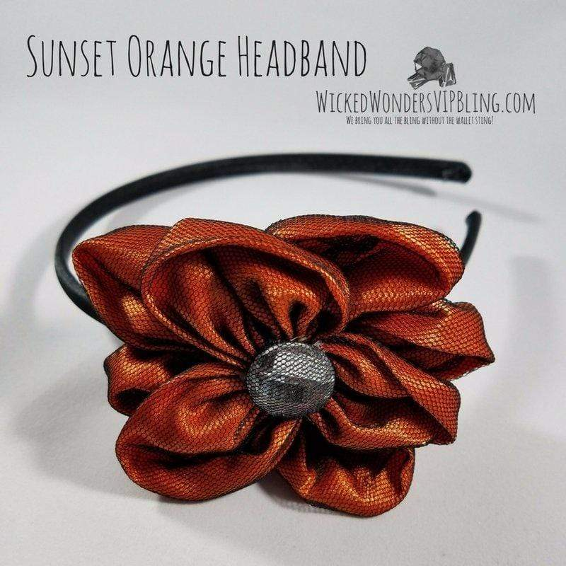 Wicked Wonders VIP Bling Headband Sunset Orange Headband Affordable Bling_Bling Fashion Paparazzi