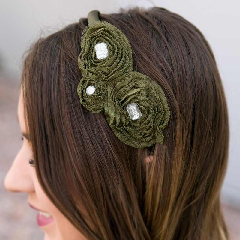 Wicked Wonders VIP Bling Headband Time for Tea Green Headband Affordable Bling_Bling Fashion Paparazzi