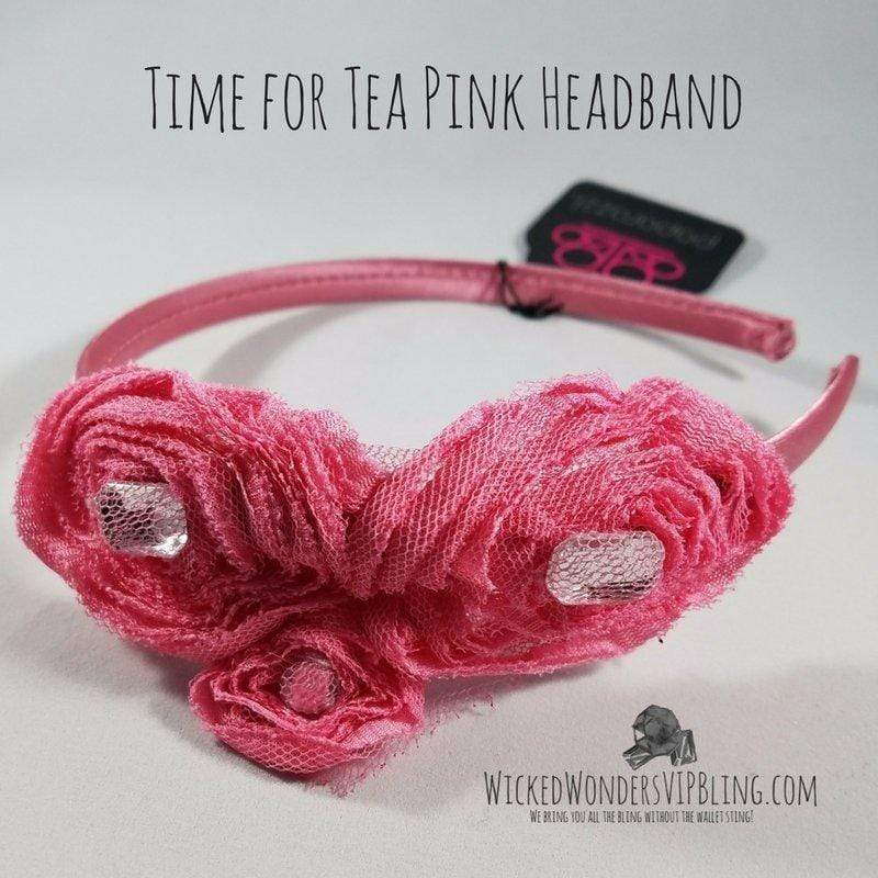 Wicked Wonders VIP Bling Headband Time for Tea Pink Headband Affordable Bling_Bling Fashion Paparazzi