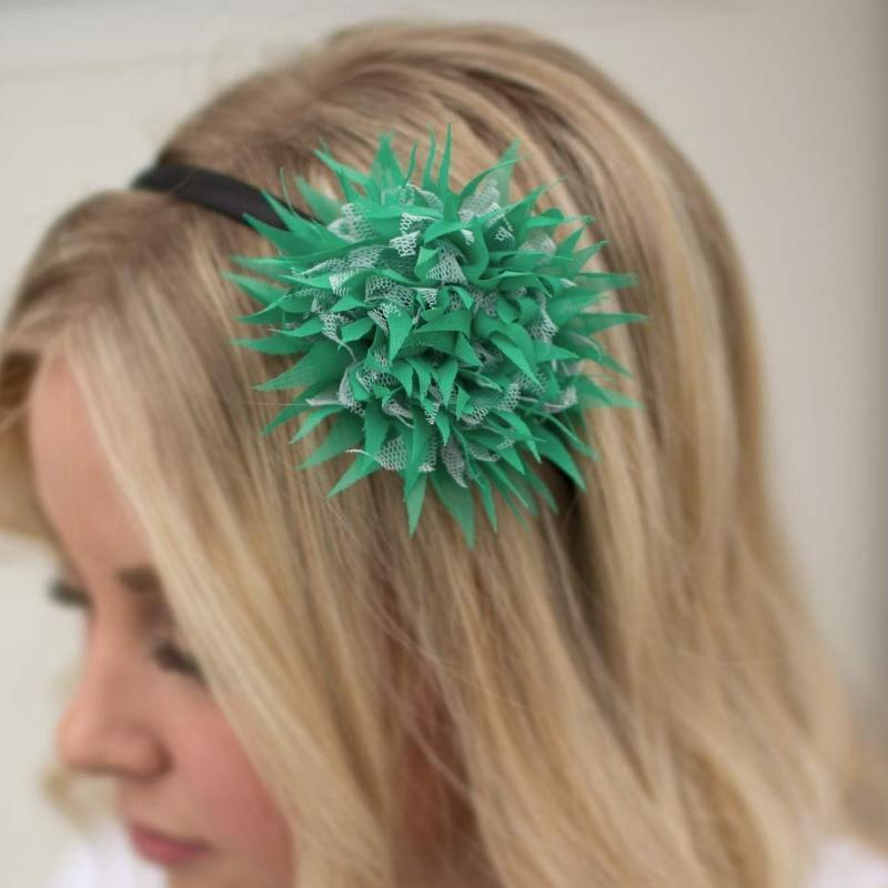 Wicked Wonders VIP Bling Headband Under the Sea Green Headband Affordable Bling_Bling Fashion Paparazzi