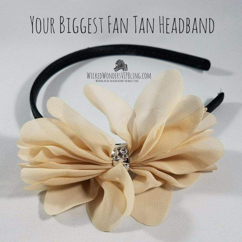Wicked Wonders VIP Bling Headband Your Biggest Fan Tan Headband Affordable Bling_Bling Fashion Paparazzi