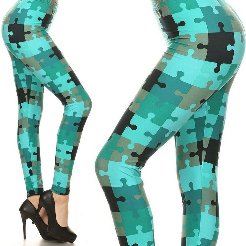 Wicked Wonders VIP Bling Leggings Wicked Soft Autism Awareness OS Leggings Affordable Bling_Bling Fashion Paparazzi