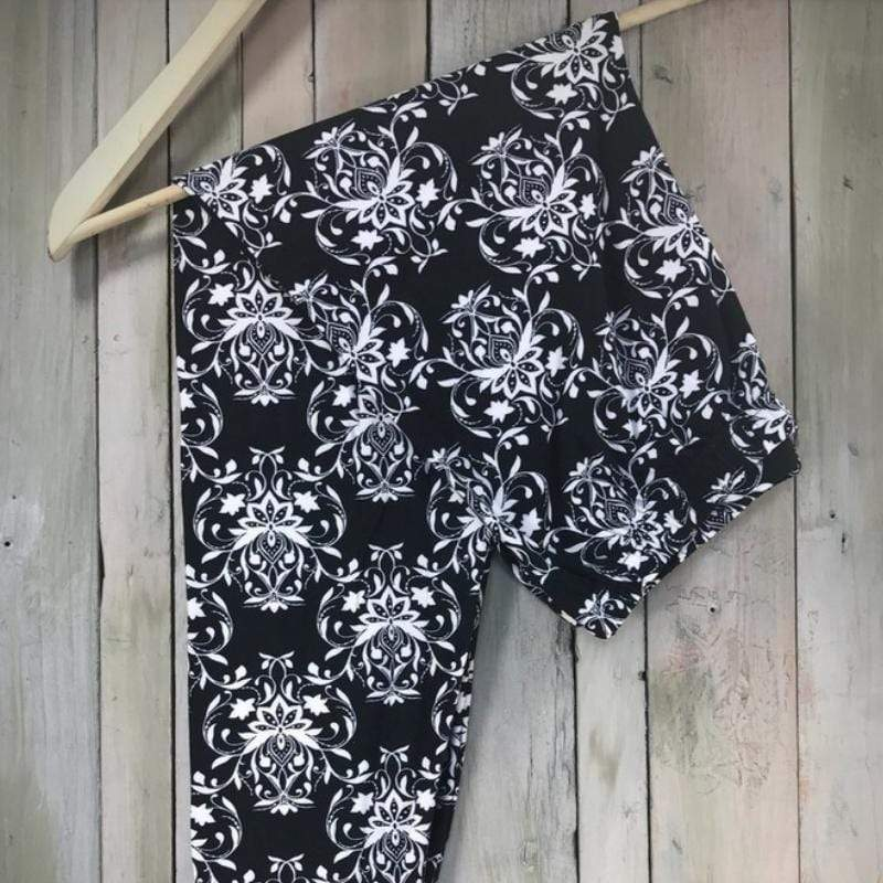 Wicked Wonders VIP Bling Leggings Wicked Soft Damsel in Damask PLUS Leggings Affordable Bling_Bling Fashion Paparazzi
