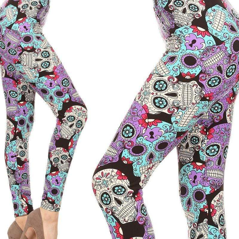 Wicked Wonders VIP Bling Leggings Wicked Soft Dancing with Skulls OS Leggings Affordable Bling_Bling Fashion Paparazzi