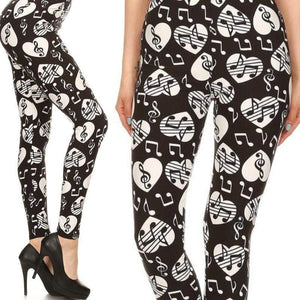 Wicked Wonders VIP Bling Leggings Wicked Soft Musical Romance OS Leggings Affordable Bling_Bling Fashion Paparazzi