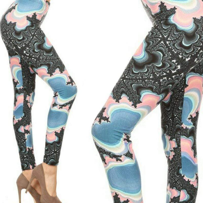 Wicked Wonders VIP Bling Leggings Wicked Soft Painting the Town Blue OS Leggings Affordable Bling_Bling Fashion Paparazzi