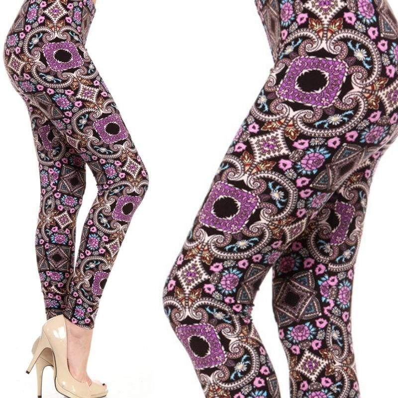 Wicked Wonders VIP Bling Leggings Wicked Soft Purple Haze OS Leggings Affordable Bling_Bling Fashion Paparazzi
