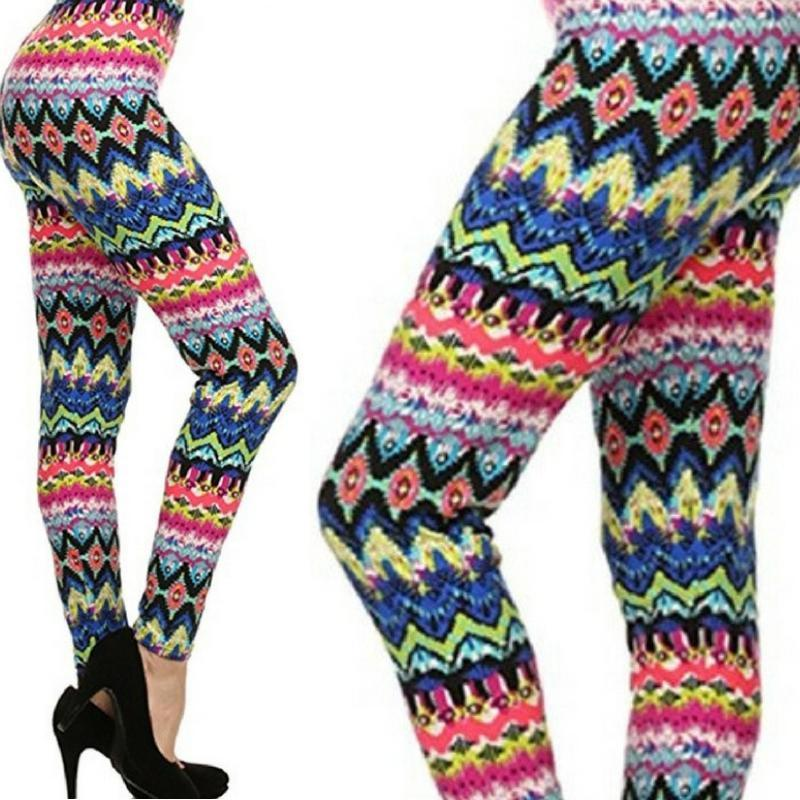 Wicked Wonders VIP Bling Leggings Wicked Soft Rainbow Zig Zag OS Leggings Affordable Bling_Bling Fashion Paparazzi