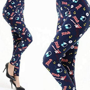 Wicked Wonders VIP Bling Leggings Wicked Soft Rock N Roll Forever OS Leggings Affordable Bling_Bling Fashion Paparazzi