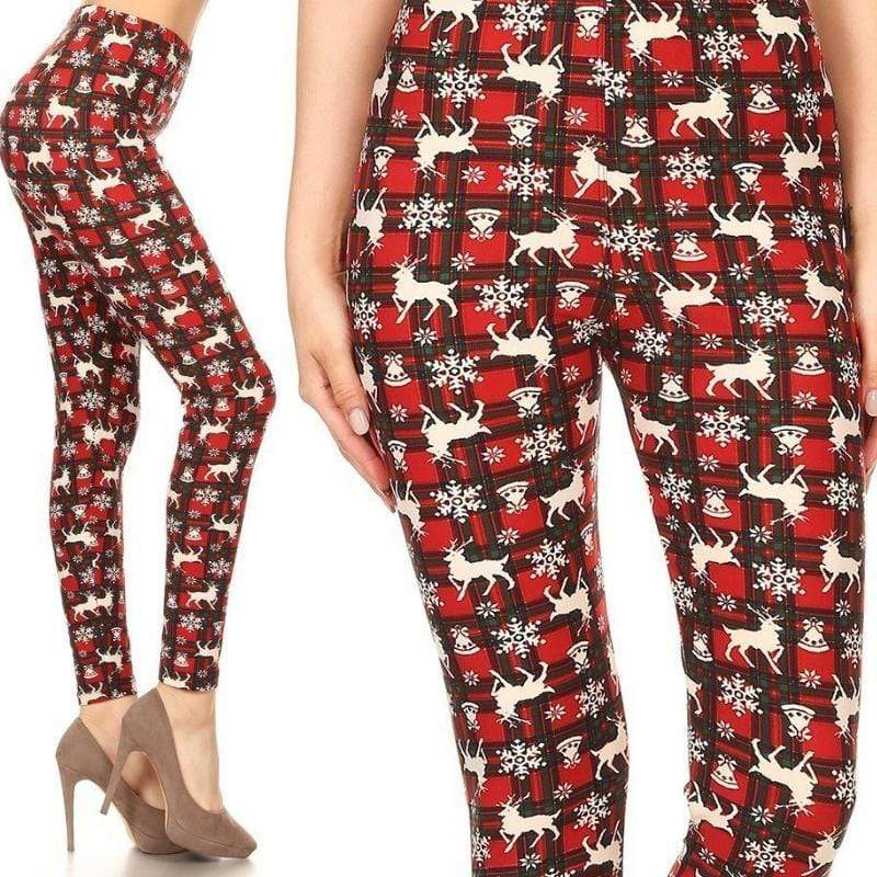Wicked Wonders VIP Bling Leggings Wicked Soft Rudolph Christmas OS Leggings Affordable Bling_Bling Fashion Paparazzi
