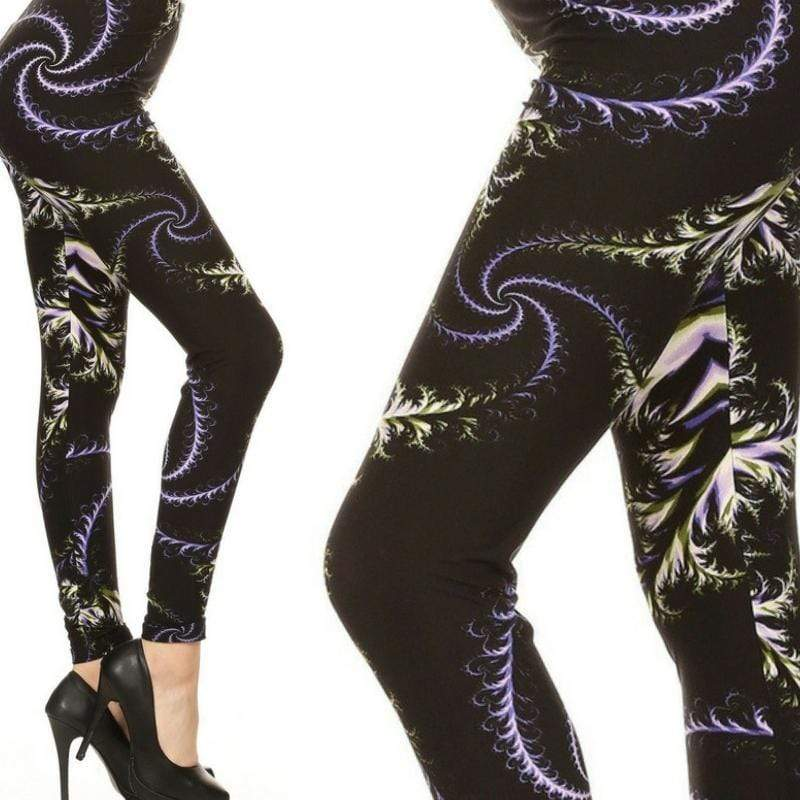 Wicked Wonders VIP Bling Leggings Wicked Soft Vector Art Swirls OS Leggings Affordable Bling_Bling Fashion Paparazzi