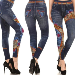 Wicked Wonders VIP Bling Leggings Wicked Soft Wild About Bluejeans Jeggings OS Leggings Affordable Bling_Bling Fashion Paparazzi
