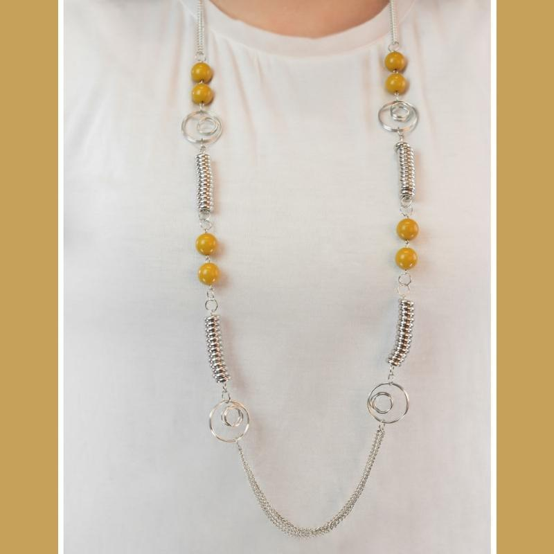 Wicked Wonders VIP Bling Necklace A Break From the Norm Yellow Necklace Affordable Bling_Bling Fashion Paparazzi