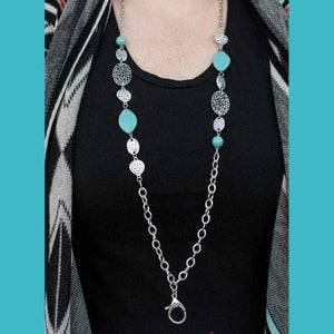 Wicked Wonders VIP Bling Necklace A-MASON Grace Blue Lanyard Necklace Affordable Bling_Bling Fashion Paparazzi