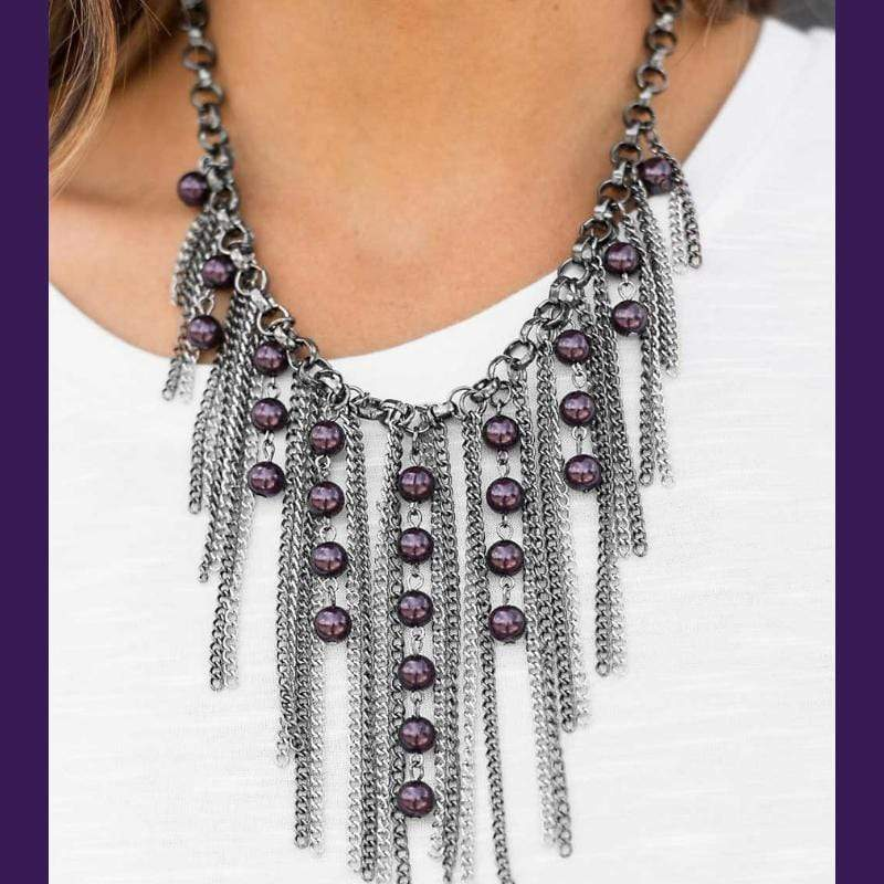 Wicked Wonders VIP Bling Necklace A Risk I Am Willing To Take Purple Necklace Affordable Bling_Bling Fashion Paparazzi