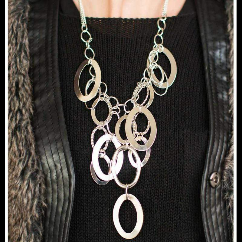Wicked Wonders VIP Bling Necklace A Silver Spell Silver Necklace Affordable Bling_Bling Fashion Paparazzi