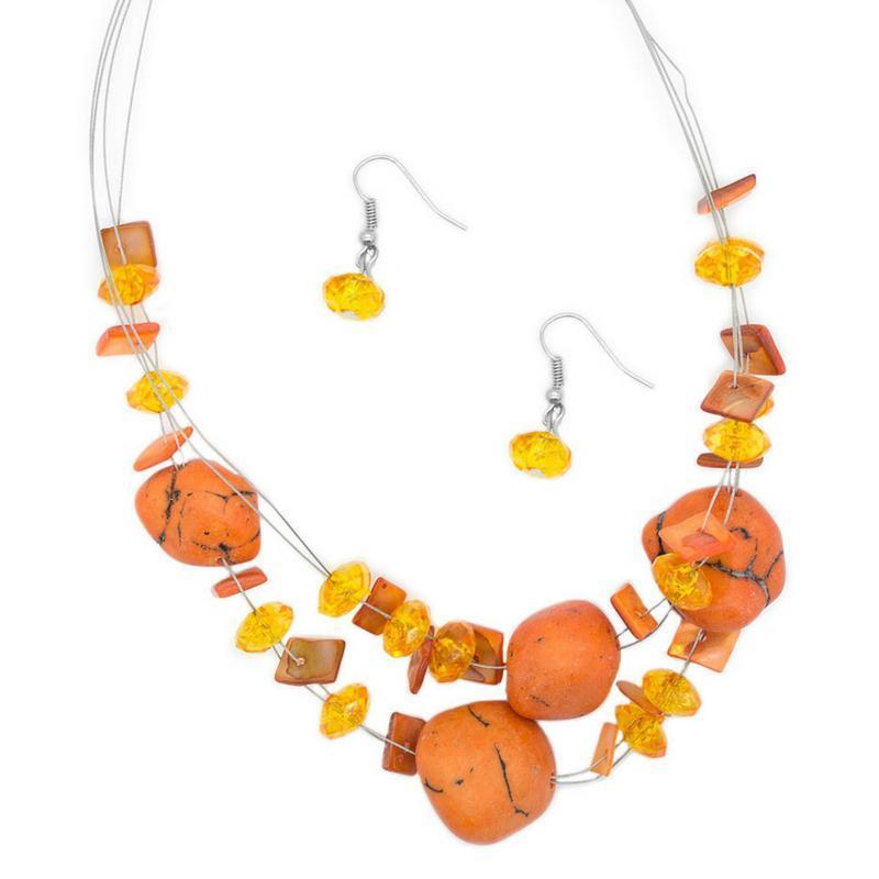 Wicked Wonders VIP Bling Necklace Adorably Artisan Orange Necklace Affordable Bling_Bling Fashion Paparazzi