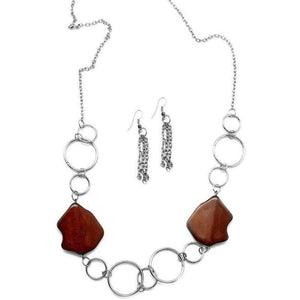 Wicked Wonders VIP Bling Necklace Ain't No Mountain High Enough Brown Necklace Affordable Bling_Bling Fashion Paparazzi