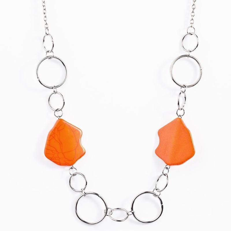 Wicked Wonders VIP Bling Necklace Ain't No Mountain High Enough Orange Necklace Affordable Bling_Bling Fashion Paparazzi