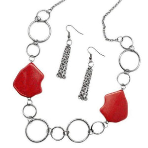 Wicked Wonders VIP Bling Necklace Ain't No Mountain High Enough Red Necklace Affordable Bling_Bling Fashion Paparazzi