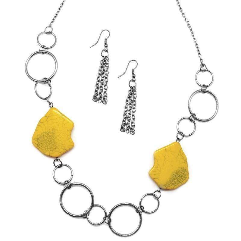 Wicked Wonders VIP Bling Necklace Ain't No Mountain High Enough Yellow Necklace Affordable Bling_Bling Fashion Paparazzi