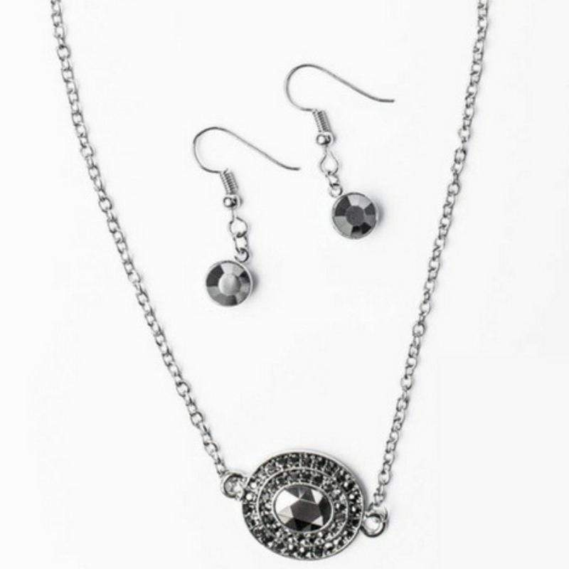 Wicked Wonders VIP Bling Necklace All the Grandeur in the World Silver Necklace Affordable Bling_Bling Fashion Paparazzi