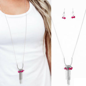 Wicked Wonders VIP Bling Necklace All the Pretty Colors Pink Necklace Affordable Bling_Bling Fashion Paparazzi