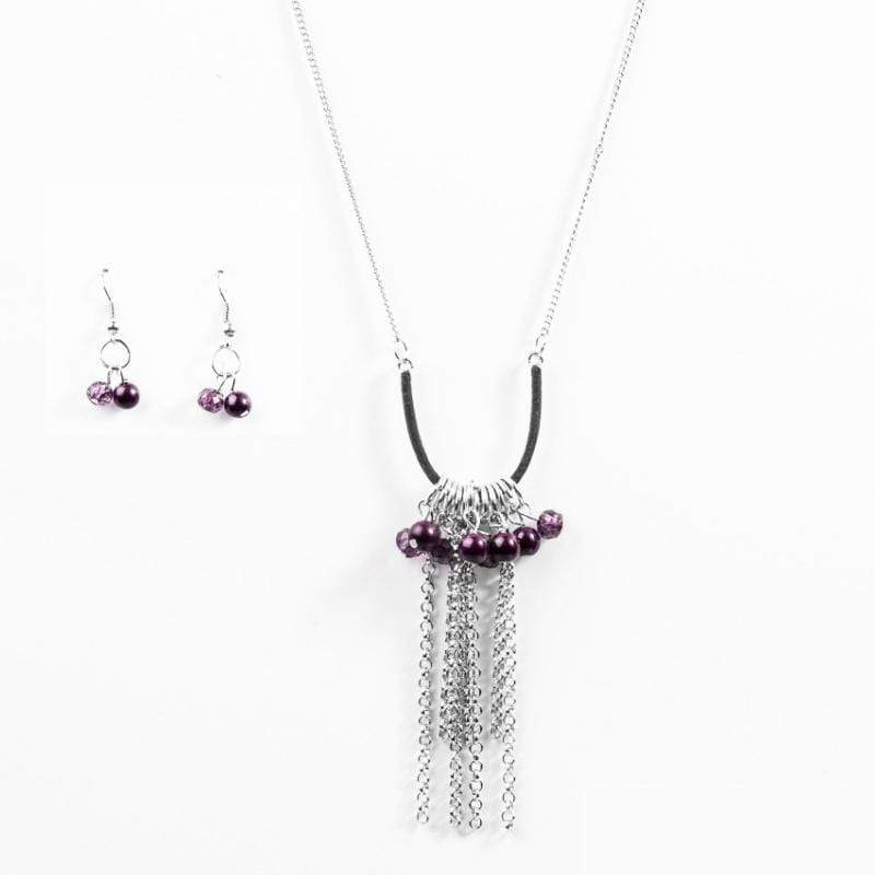 Wicked Wonders VIP Bling Necklace All the Pretty Colors Purple Necklace Affordable Bling_Bling Fashion Paparazzi