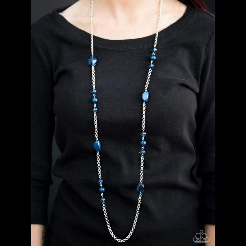 Wicked Wonders VIP Bling Necklace Already Famous Blue Necklace Affordable Bling_Bling Fashion Paparazzi