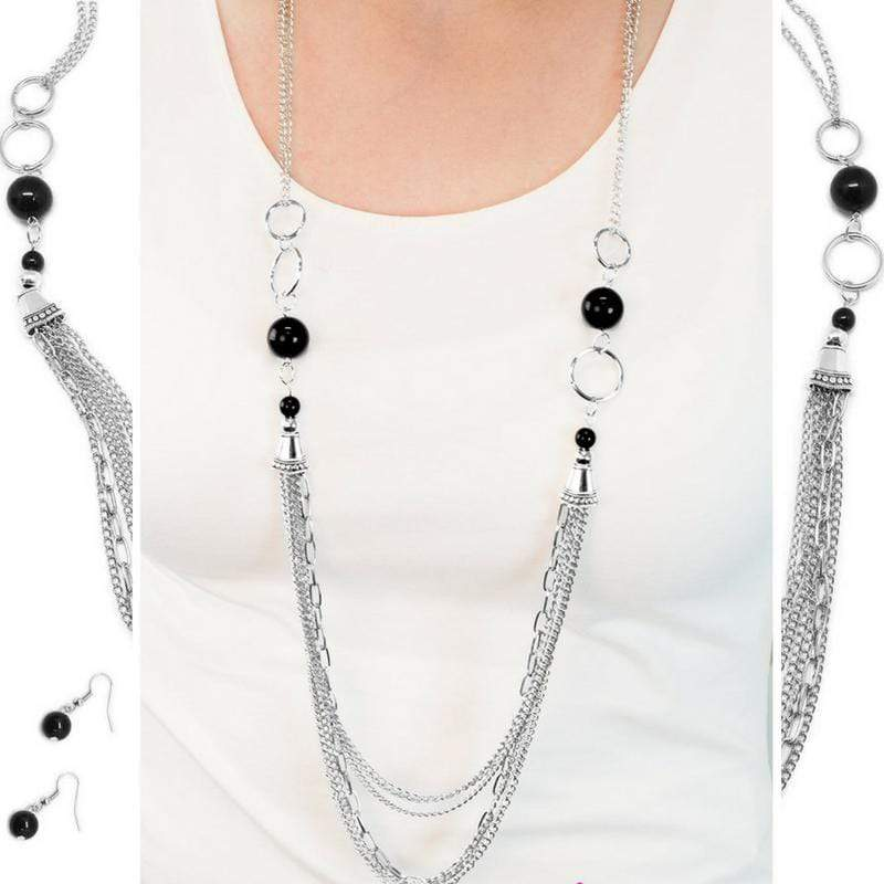 Wicked Wonders VIP Bling Necklace Armageddon Black Necklace Affordable Bling_Bling Fashion Paparazzi