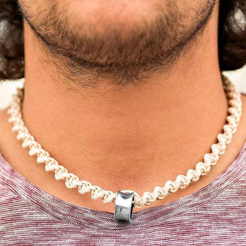 Wicked Wonders VIP Bling Necklace Beach Escape White Urban Man Necklace Affordable Bling_Bling Fashion Paparazzi