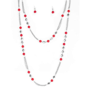 Wicked Wonders VIP Bling Necklace Beautifully Bodacious Red Necklace Affordable Bling_Bling Fashion Paparazzi