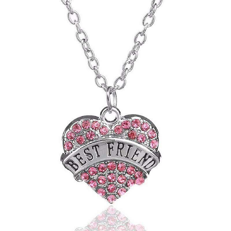 Wicked Wonders VIP Bling Necklace BFF's Forever Pink Rhinestone Necklace Affordable Bling_Bling Fashion Paparazzi