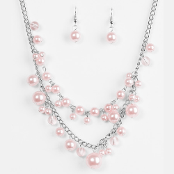 Wicked Wonders VIP Bling Necklace Blissfully Bridesmaid Pink Necklace Affordable Bling_Bling Fashion Paparazzi