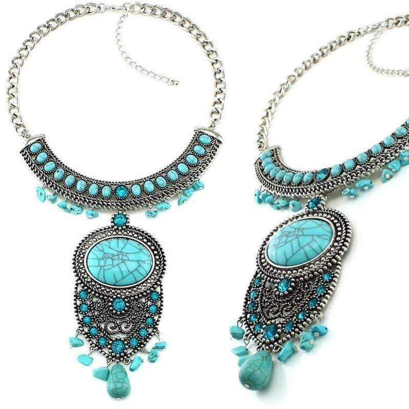 Wicked Wonders VIP Bling Necklace Bohemian Princess Blue Necklace Affordable Bling_Bling Fashion Paparazzi