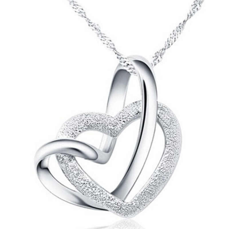 Wicked Wonders VIP Bling Necklace Bonding of Hearts Silver Necklace Affordable Bling_Bling Fashion Paparazzi