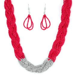Wicked Wonders VIP Bling Necklace Brazilian Brilliance Red Seed Bead Necklace Affordable Bling_Bling Fashion Paparazzi