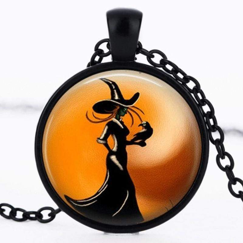 Wicked Wonders VIP Bling Necklace Cabochon Witch Black Necklace Affordable Bling_Bling Fashion Paparazzi