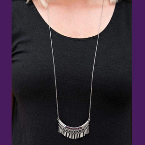 Wicked Wonders VIP Bling Necklace Calling All Goddesses Purple Rhinestone Necklace Affordable Bling_Bling Fashion Paparazzi