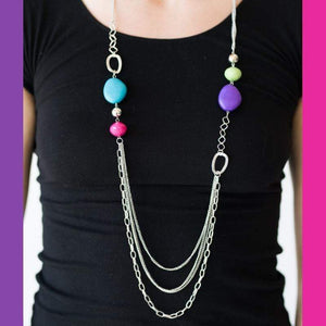 Wicked Wonders VIP Bling Necklace Caribbean Rainbow Multi Color Necklace Affordable Bling_Bling Fashion Paparazzi