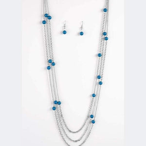 Wicked Wonders VIP Bling Necklace Carry On Blue Necklace Affordable Bling_Bling Fashion Paparazzi